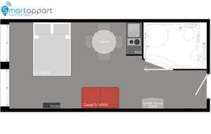 Family Studio floor plan PMR