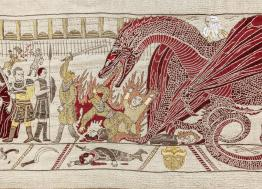 In Bayeux, the Hotel du Doyen exhibits a tapestry on the theme of Game of Thrones until December 31st 2019