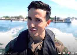 Tibo inShape a passé deux jours à école des fusiliers-marins de Lanester