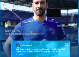 Le défenseur international Adil Rami rejoint Troyes