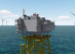 Les Chantiers de l'Atlantique de Saint-Nazaire assureront la maintenance de trois sous-stations électriques des parcs éoliens en mer