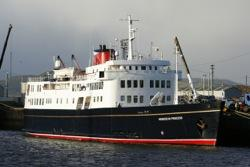 The Hebridean Princess: a luxury stop in Cherbourg!