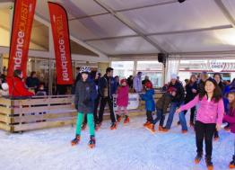 The skating rink and sledge slope are again in the city center of Cherbourg for Christmas