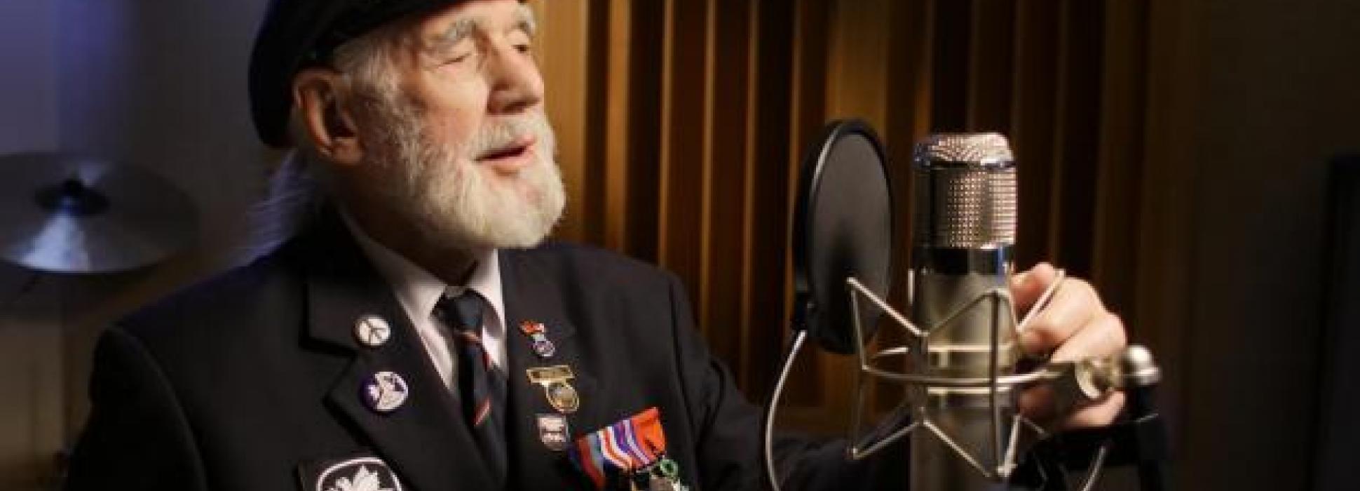 "World War II veteran Jim Radford makes a buzz on the Amazon platform with his folk ballad ""The Shores of Normandy"""
