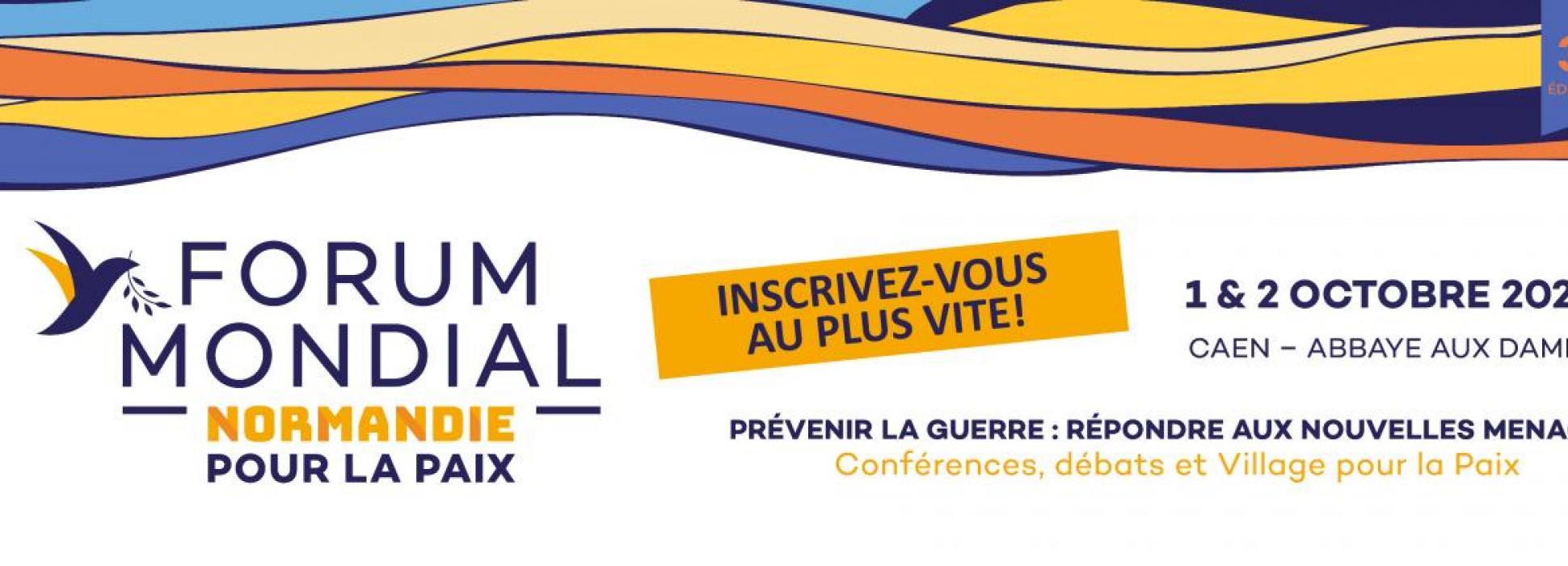 Nicolas Hulot, Barbara Hendricks y Yann Arthus Bertrand participarán en el Foro Mundial Normandía por la Paz el 1 y 2 de octubre de 2020 en Caen